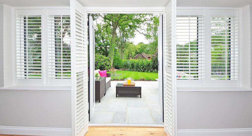 UPVC windows with shutters